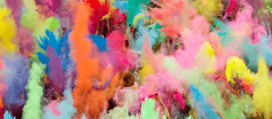 Eine Holi Color Party oder Holi Festival organisieren