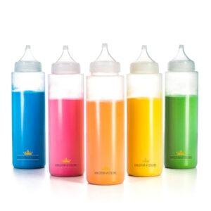 Holi farben Flaschen